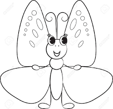 cute butterfly clipart black and white clipartxtras