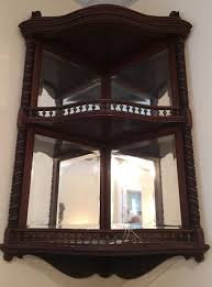 Antique Corner Cabinets Exq Antique Victorian Wall Shelf Corner Cabinet Mahogany Beveled