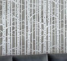 allover stencil birch forest by cutting edge stencils reusable