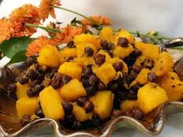 butternut squash black chickpeas vegetarian thanksgiving side