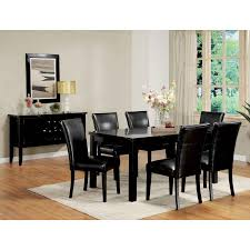 Dining Table Leather Chairs Dining Rooms - White leather dining room set