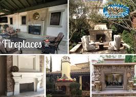 backyard fireplace splash pools and construction