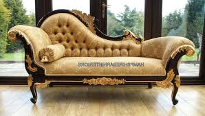 Cream Leather Chaise Chaise Image Is Loading Ornate Chaise Large Gold Cream Leather