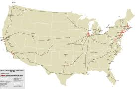 Pics Of Maps Of The United States by Oc A Map Of Every Passenger And Commuter Rail In The United