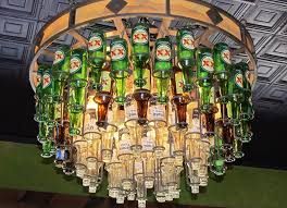 Corona Chandelier Hanging Beer Bottle Chandelier Photograph By Donna Wilson