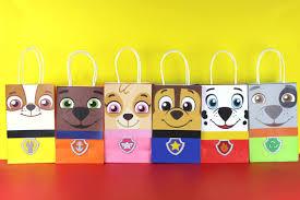 diy paw patrol favor bags simply download print cut paste