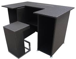 Bar And Stool Sets Outdoor Wicker Resin 4 Piece Bar Table And Stool Set