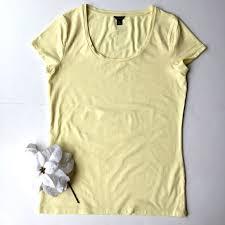 light yellow t shirt ann taylor tops ann taylor pale yellow cottonmodal tee shirt