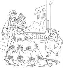 beauty and the beast coloring pages coloringeast com