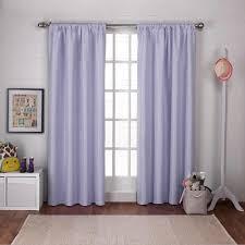 Blackout Purple Curtains Polka Lilac Purple Dot Jacquard Blackout Rod Pocket Top Window
