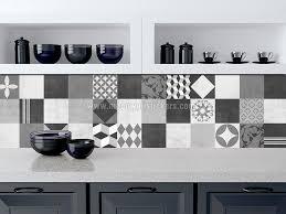 stickers carreaux cuisine muraux carrelage graphite géométrique