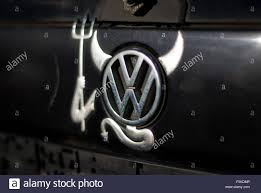 peine germany 05th nov 2015 an old volkswagen polo with a logo