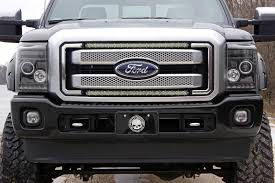 f250 led light bar 30in single row led light bar hidden grille kit for 11 16 ford super