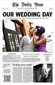 newspaper wedding programs wedding newspaper templates 7 word pdf psd indesign format