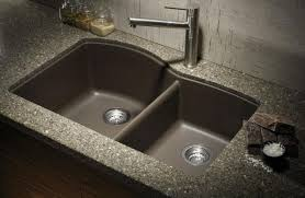 granite countertop painted cabinet 4 hole faucets clean sink