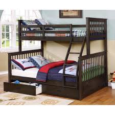 Bunk Beds  Twin Over Full Bunk Bed With Ladder Loft Beds With - Girls bunk bed with desk