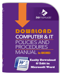 information technology it policies and procedures it policy manual