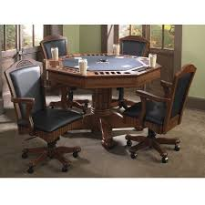 Poker Table Chairs Palmetto Game Table Set