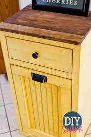 tips tilt out trash bin double bin trash can cabinet trash can