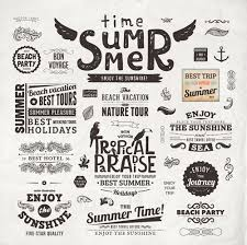 summer holidays label ornaments and logos vector 02 design