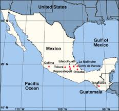 map central mexico skiing the pacific ring of and beyond mexico central america