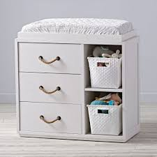 topside white 3 drawer changing table the land of nod