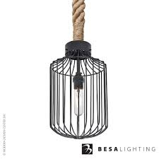 Sultana Rope Cylinder Pendant Light Besa Lighting