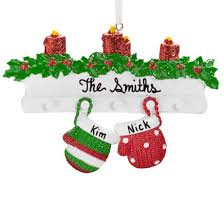 personalized snow family ornament ornaments kimball
