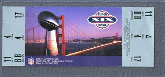lot detail lot of 5 full super bowl tickets from every san