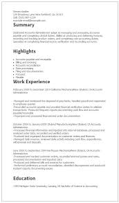 Summary Examples For Resume by Professional Accounts Administrator Templates To Showcase Your