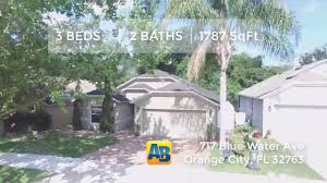 Bluewater Floor Plan by Home For Sale 717 Blue Water Ave Orange City Fl 32763 Youtube
