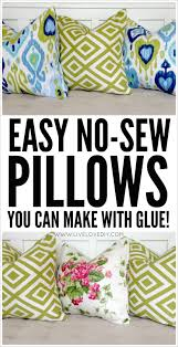 livelovediy how to make a pillow with glue