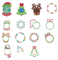 monogram christmas christmas monogram frames