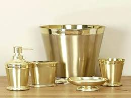 gold bath accessories luxury stainless steel carved gold