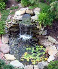 landscaping and outdoor building relaxing waterfalls backyard