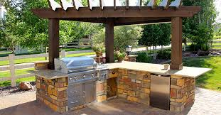 Backyard Designs With Pool And Outdoor Kitchen Cool With Image Of - Backyard designs with pool and outdoor kitchen