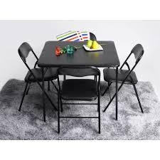 chaises pliables ensemble table et 4 chaises pliables sète décor noir