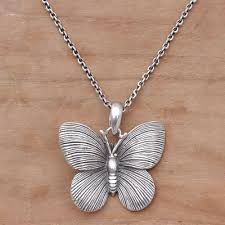 butterfly jewelry necklace images 925 sterling silver butterfly pendant necklace from bali blessed jpg