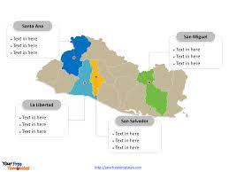 Blank Map Of El Salvador by Free El Salvador Map Template Free Powerpoint Templates