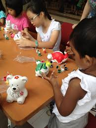 clay paint art and craft party in singapore
