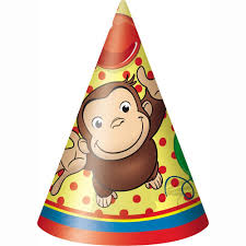 amazon curious george party hats 8ct toys u0026 games