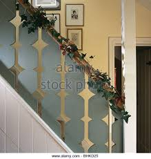 Decorating Banisters For Christmas Christmas Garland Staircase Stock Photos U0026 Christmas Garland