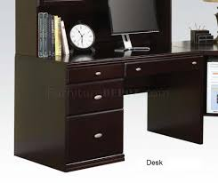 Modern Espresso Desk Finish Cape Modern Desk W Options By Acme
