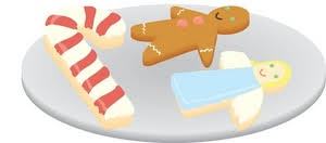 gingerbread clipart plate christmas cookie pencil and in color
