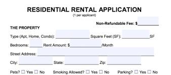 free rental application form pdf word eforms u2013 free fillable