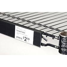 Metro Wire Shelving by Amazon Com Edge View Wire Shelf Label Holder For Metro Shelving