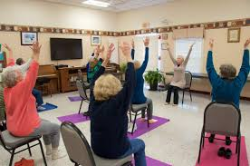 Armchair Yoga For Seniors Seniors Find Balance In Yoga By Georgia Sparling Marion