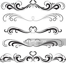 ornamental scrolls vector getty images