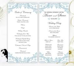 cheap ceremony programs printed programs for wedding blue lace wedding ceremony