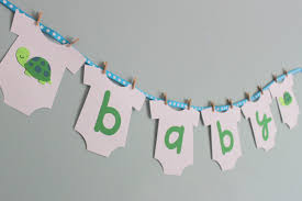banner baby shower home design ideas